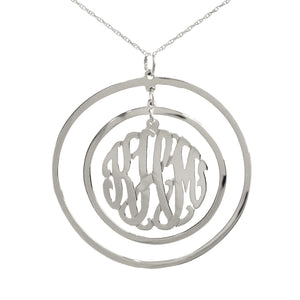 Circular Chandelier Monogram Necklace