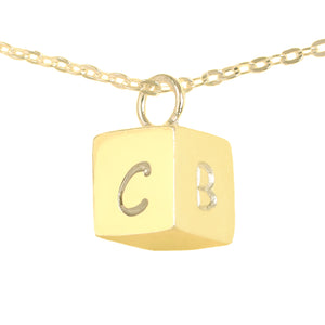 Personalized Cube Pendant