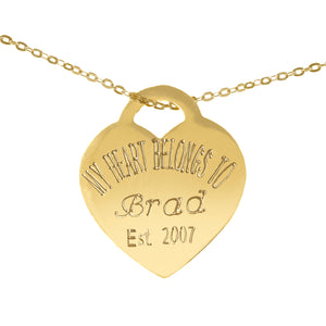 Personalized Sweetheart Necklace