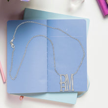 Load image into Gallery viewer, Stacked Monogram Necklace