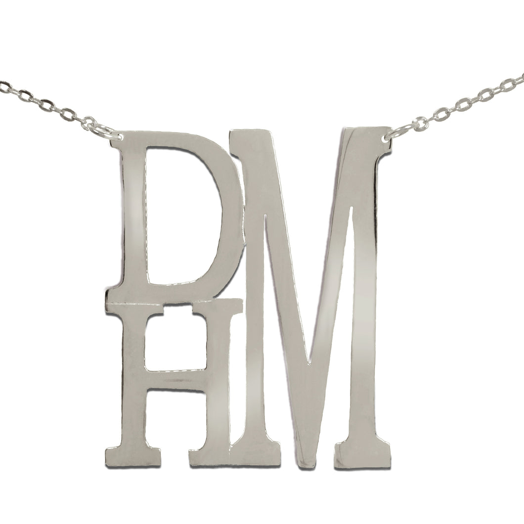 Stacked Monogram Necklace