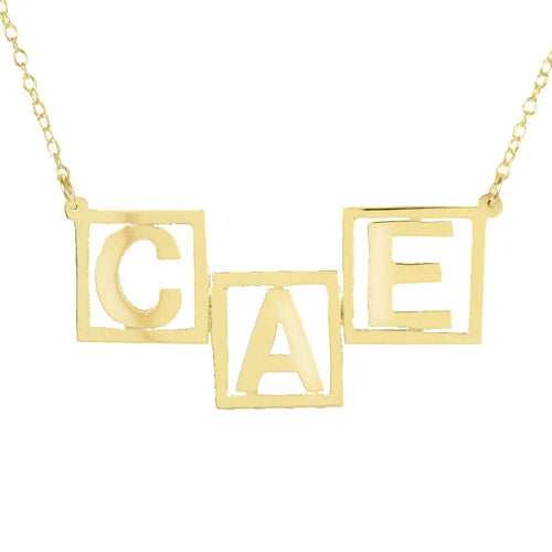 3 Initial Letter Name Necklace