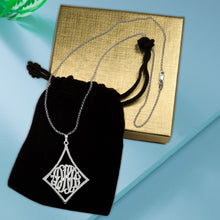 Load image into Gallery viewer, Curved Frame Monogram Necklace