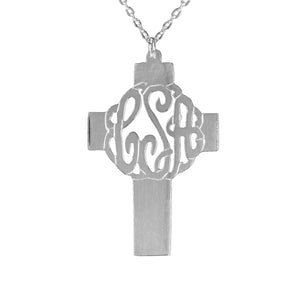 Holy Cross Monogram Necklace