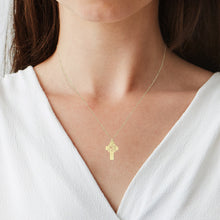 Load image into Gallery viewer, Holy Cross Monogram Necklace