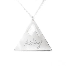Load image into Gallery viewer, Personalized Mountain Top Name Pendant