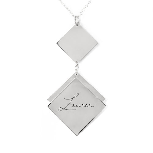 Diamond-Shaped Personalized Pendant
