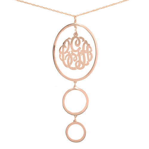 Inverted Double Loop Chandelier Monogram Pendant