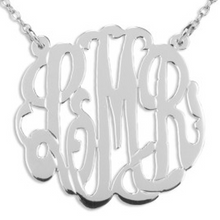 Load image into Gallery viewer, Handcrafted Monogram Necklace