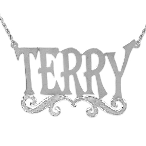 Tall Font Name Necklace