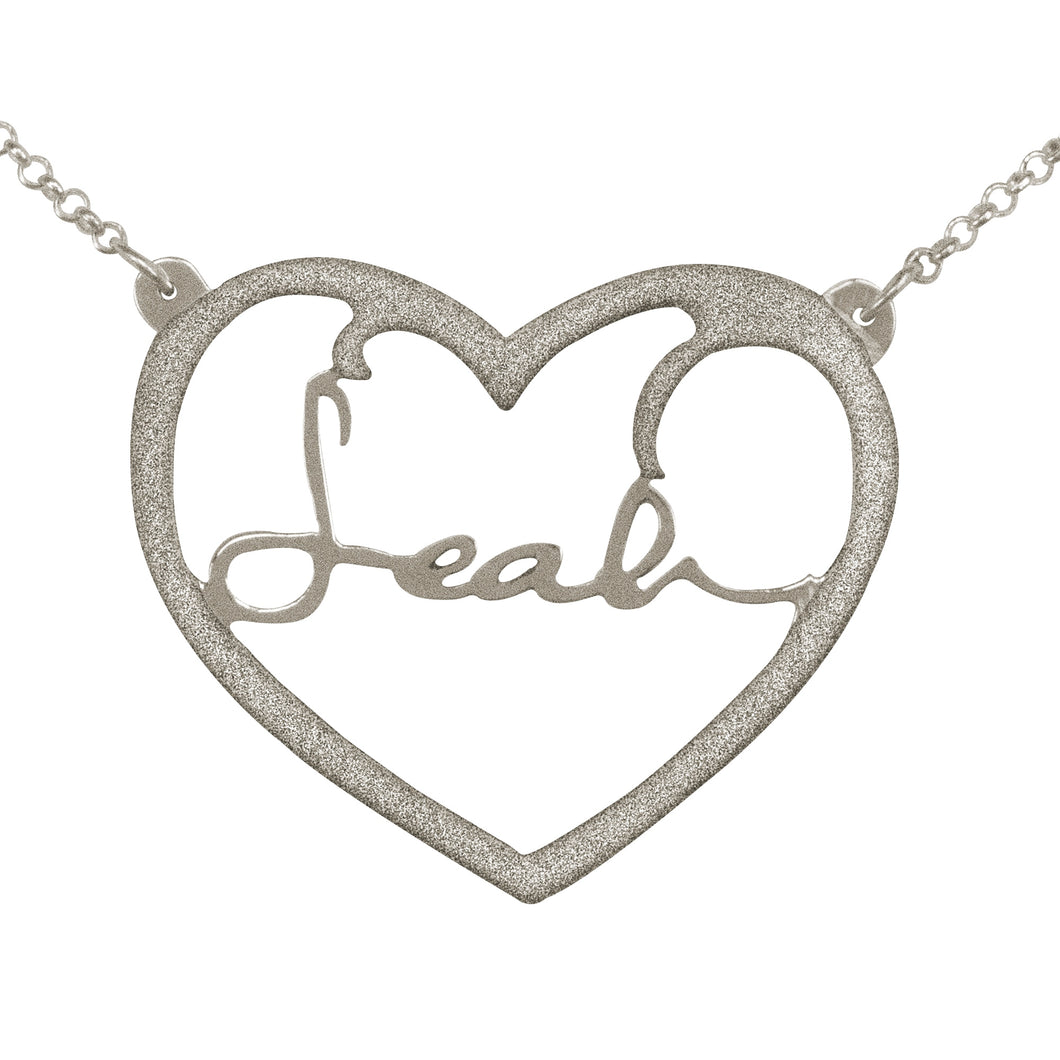 Frame Heart Signature Necklace