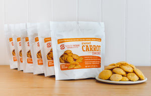 Sweet Carrot Crackers (six servings)