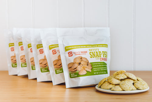 Savory Snap Pea Crackers (six servings)