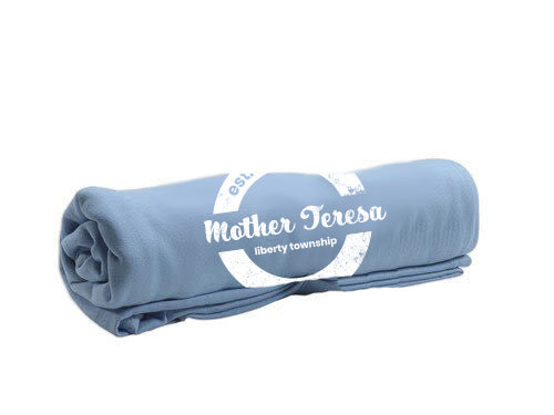 Pro-Weave Embroidery Blanket- Mother Teresa (Columbia Blue)