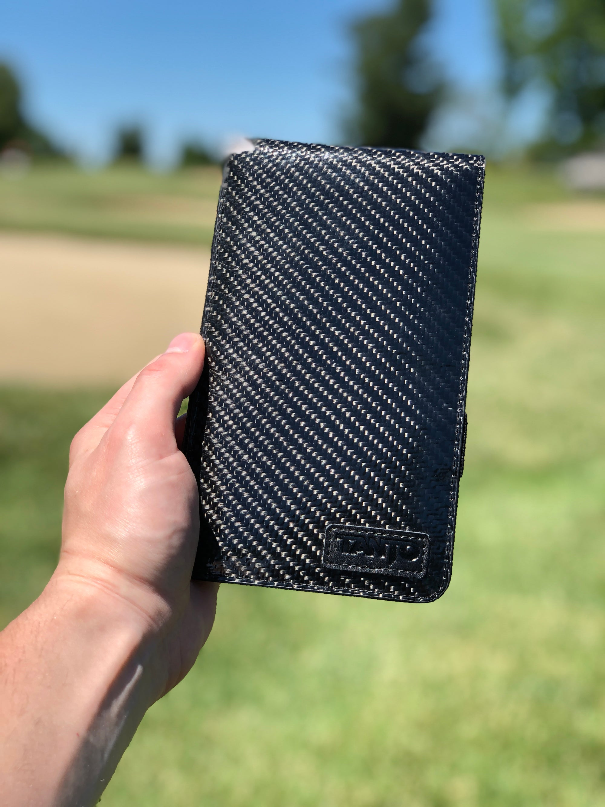 Premium Scorecard Holder - Carbon Fiber - Tanto Golf