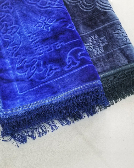 Plush Prayer Mats  - Blue