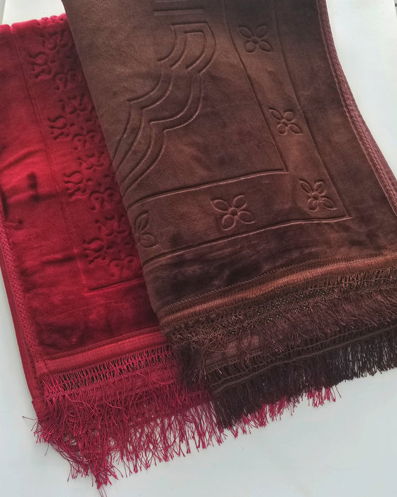 Plush Prayer Mats  - Maroon