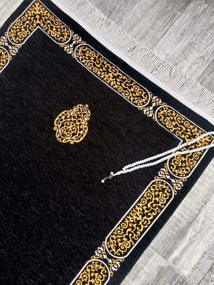 Luxury Kaaba Inspired Prayer Mat - Design 3