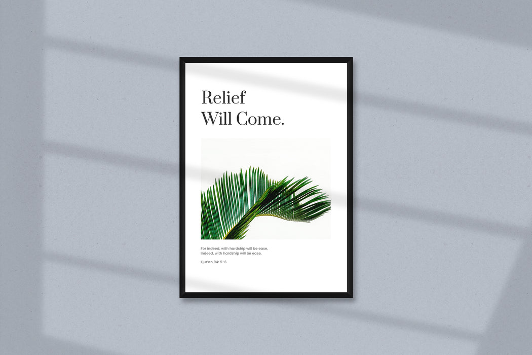 Relief Will Come Poster