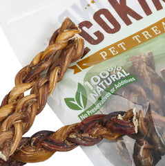 EcoKind Pet Treats - Braided Bully Sticks For Dogs - All Natural Dog Chew Stick