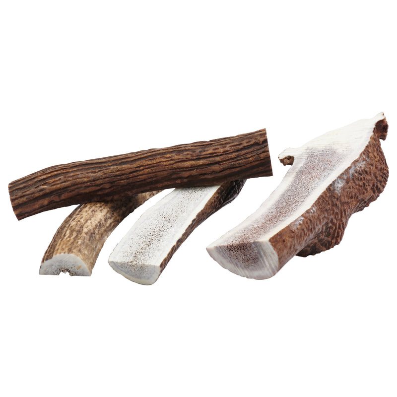 """Split"" Grade A Whole Elk Antler Dog Chews"