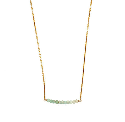 Aquaprase Bar Necklace