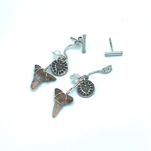 Sharks Tooth Ear Jacket w/ Bar Stud