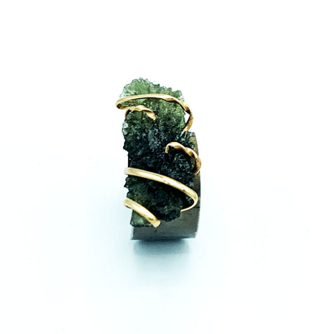 Moldavite Ring Adjustable