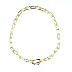 Maisey Rainbow Link Necklace