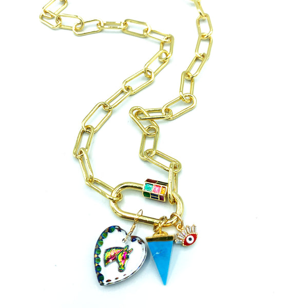 Mosaic Link Necklace