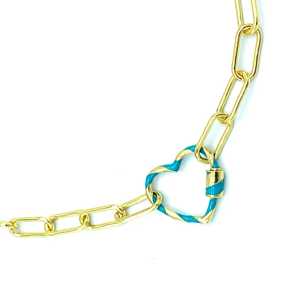 Maisey Heart Link Necklace
