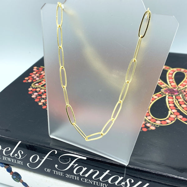 Classic Gold Link Necklace