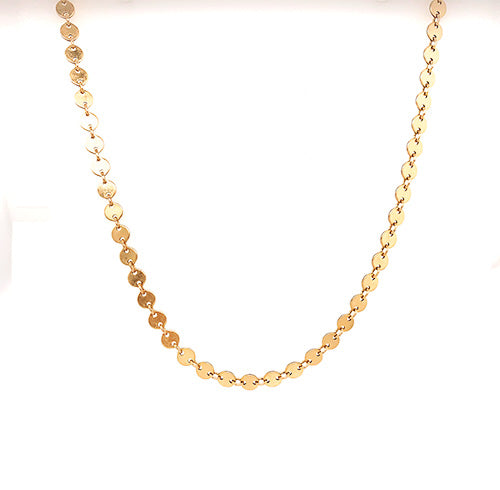 Gold Sequin Necklace