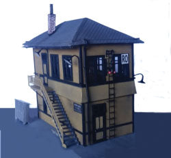 Baltimore & Ohio Interlocking Tower -- Kit -  Scale: HO