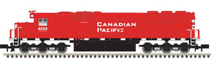 Scale: N - EMD SD60 - Standard DC - Master Silver -- Canadian Pacific 6247 (red, black, white)