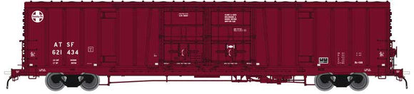 Scale: N - Santa Fe Class BX-166 62' Beer Boxcar - Ready to Run -- Santa Fe 621553 (Boxcar Red, 24