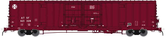 Scale: N - Santa Fe Class BX-166 62' Beer Boxcar - Ready to Run -- Santa Fe 621596 (Boxcar Red, 24