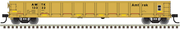 Scale: N - Evans 52' Gondola - Ready to Run -- Amtrak #13390 (yellow, black; Yellow Conspicuity Marks)