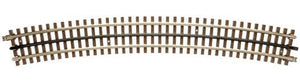 21st Century Track System(TM) Nickel Silver Rail w/Brown Ties - 3-Rail -- O-90 Full Curved Section (Circle = 16 Pieces) -  Scale