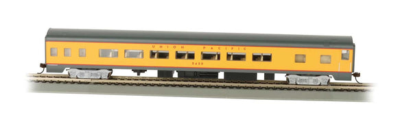 Scale: HO<br/>85' Smooth-Side Coach w/Lights - Ready to Run -- Union Pacific