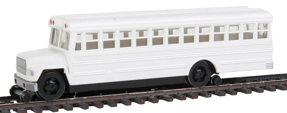 Maintenance-of-Way High Railer Bus - Standard DC -- White -  Scale: HO