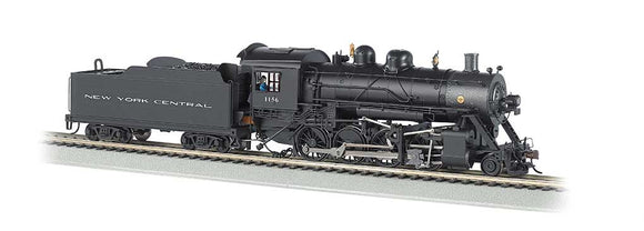 Baldwin 2-8-0 Consolidation - Sound and DCC -- New York Central #1156 (black, graphite) -  Scale: N