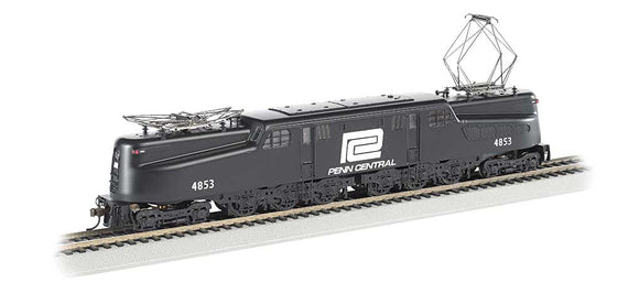 GG1 Electric w/Sound & DCC -- Penn Central #4853 (black, white) -  Scale: HO