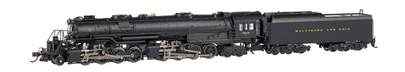 Class EM-1 2-8-8-4 Early Large Dome - Econami Sound and DCC - Spectrum(R) -- Baltimore & Ohio 7615 (black) -  Scale: N