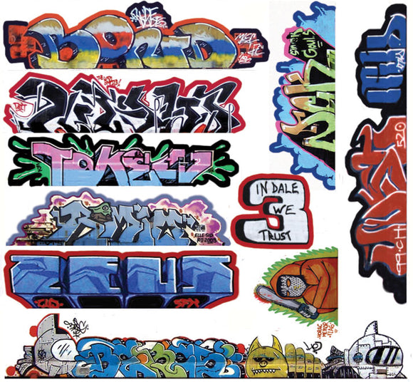 Mega Set Modern Tagger Graffiti Decals -- #14 pkg(10) -  Scale: HO