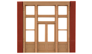 Modular Building System(TM) -- Street Level Wall Sections w/Victorian Entry - Kit -  Scale: HO