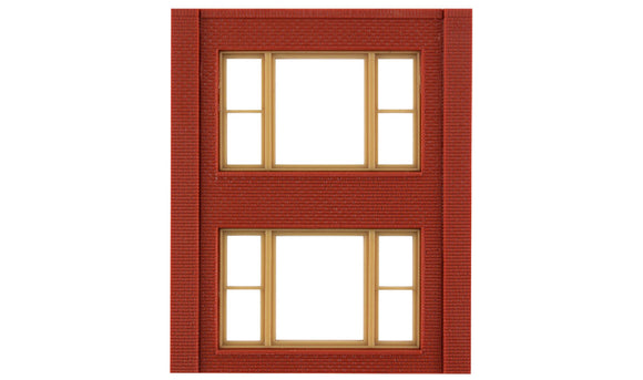Modular Building System(TM) -- Two-Story Wall Sections w/2 20th Century Windows - Kit -  Scale: HO