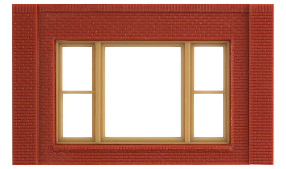 Modular Building System(TM) -- One-Story Wall Sections w/20th Century Window - Kit -  Scale: HO