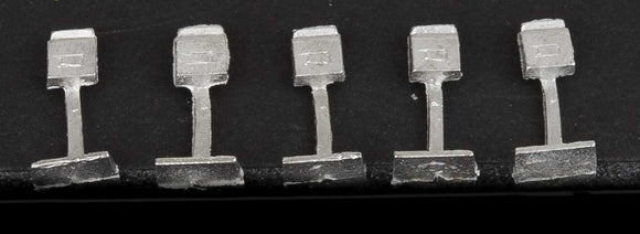 Letter Boxes -- Unpainted Metal Castings pkg(5) -  Scale: HO