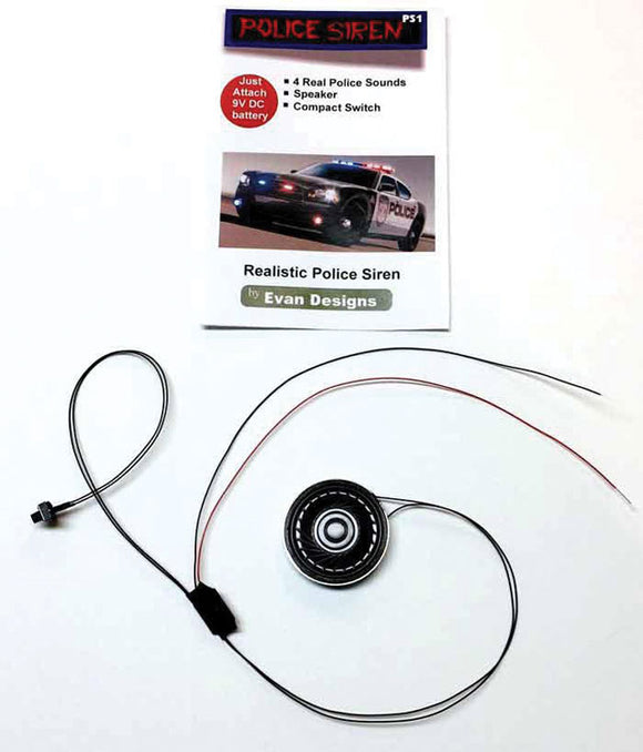 Police Siren Sound w/Speaker and Compact Switch -- 12 - 18 Volt AC/DC